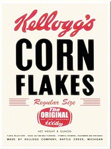 Kelloggs Corn Flakes (Alt Paket) Stahl Kühlschrank Magnet (NA) (Kühlschrank Magnet Stahl)
