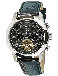 Constantin Durmont Herren-Armbanduhr XL Catano Analog Automatik Leder CD-CATA-AT-LT-STST-BK