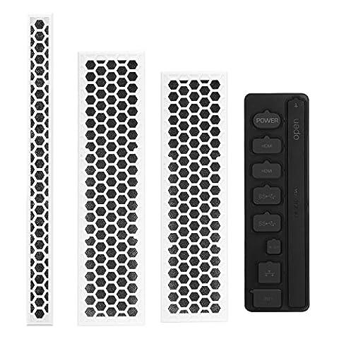 MoKo Xbox One S staubdicht Kit, schmutzabweisend Schutzumschlag Schmutzaufkleber Netzgitter