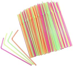 Flexible Drinking Straw (500 Pieces)