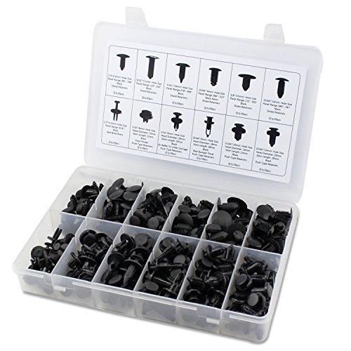 Preisvergleich Produktbild 240 Stück Push Retainer Schwarz Push-Typ Befestigung Nieten Sortiment Kit