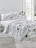 LaModaHome Bettwäsche-Set für Doppel- und Doppelzimmer, 65% Baumwolle, 35% Polyester, 100% Faserfüllung, Türkis/Weiß / Grün/Braun / Gelb