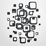 WANDfee® Wandtattoo Vierecke retro cube 60 aufkleber FARBWUNSCH wandaufkleber kinderzimmer wohnzimmer flur fliesenaufkleber bad badezimmer küche