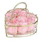 Gaddrt Gelegentliches Herz duftete Bad-Körper-Blumenblatt-Rosen-Blumen-Seifen-Hochzeits-Dekoration Blütenblätter 10X10X6cm Hochzeit, Party, Zuhause, Badezimmer (Pink)