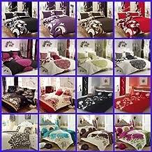 Juego de cama para cama doble juego de funda nórdica Sábana ajustable) cortinas Grandeur rojo por Gaveno Cavailia
