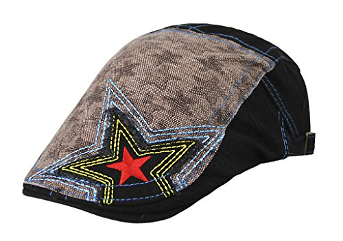 Retro Kindermütze Flatcap Schiebermütze Baumwolle Schirmmütze Kappe Verstellbar Sportmütze Freizeithut geeignet für 2-10 Jahre Alt