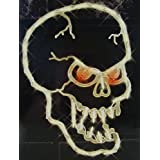 16 Lighted Halloween Spooky Skull Window Silhouette Decoration by Impact