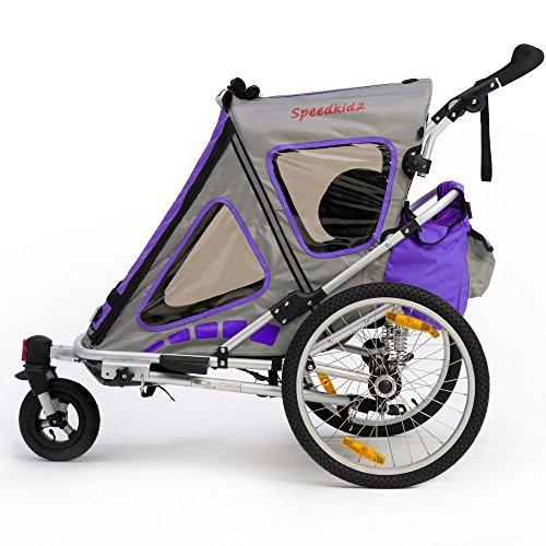 Qeridoo Q200A-Violet Speedkid2 Fahrradanhänger 2016, violett - 4