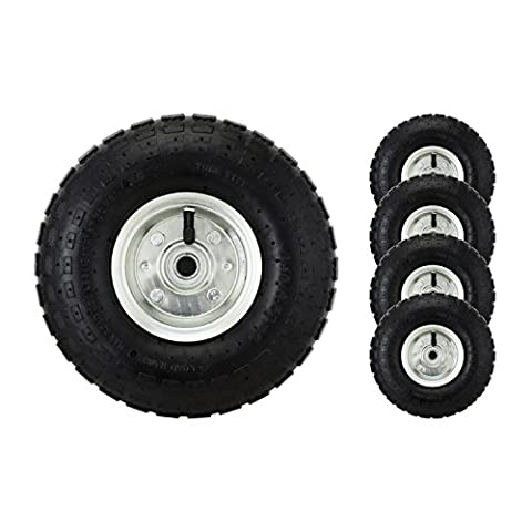 10/Lot de 4 roues pneumatiques pour diable/trolley/brouette