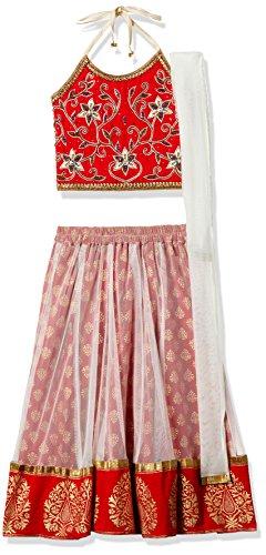 TWISHA Girls' Regular Fit Ghagra Choli (AW17-XP-GCH112-6yr_Red)