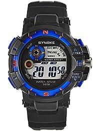 YpingLonk Casual Reloj al Aire Libre Impermeable Analógico-Digital para Regalo Electrónico Luminoso Clásico y