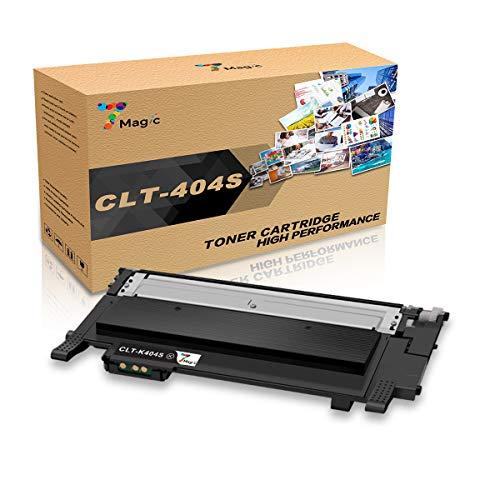 7Magic CLT-404 Toner Compatibile con Samsung CLT-P404C/ CLT-404S,CLT-K404S CLT-C404S CLT-M404S CLT-Y404S Compatibile con Samsung Xpress SL C430W C430 C480FW C480W C480FN C480W stampanti(1 Nero)