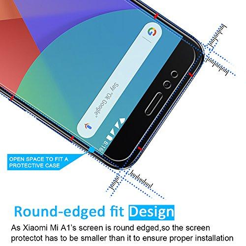 [2 Unidades] Protector de Pantalla Xiaomi Mi 5X  iVoler Cristal Vidrio Templado Premium Para Xiaomi Mi 5X / Xiaomi Mi A1 [9H Dureza] [Alta Definicion 0.2mm] [2.5D Round Edge]
