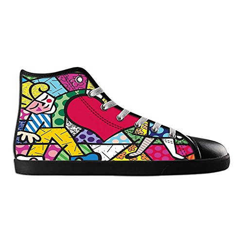 Dalliy Romero Britto Men's Canvas shoes Schuhe Lace-up High-top Sneakers Segeltuchschuhe Leinwand-Schuh-Turnschuhe C