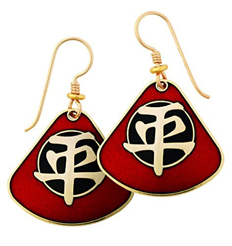 laurel-burch-red-and-black-chinese-tranquility-symbol-drop-earrings-in-gold
