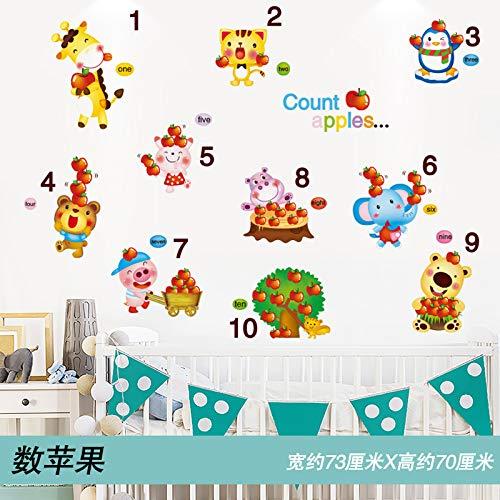 Cartoon Wandaufkleber Aufkleber Kinderzimmer Schlafzimmer Wanddekoration Tapete Wandmalerei Selbstklebend Extra Große Anzahl Von Äpfeln