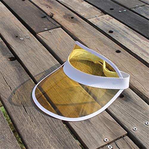 zhuzhuwen PVC leeren Hut weiblichen Sommer UV-Visier Visier männlichen koreanischen Version des Outdoor-Flut Hut PVC 56-62cm