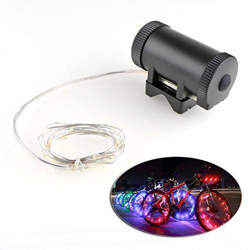 ONEVER Universal-LED Fahrrad-Rad-Licht-Fahrrad-Speiche-Licht Batteriebetriebene