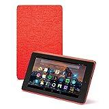 Amazon - Custodia per Fire 7 (tablet 7'', 7ᵃ generazione, modello 2017), Rosso - non compatibile con il modello 2019 (9ª generazione)