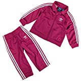 adidas Originals Firebird Kinder Trainingsanzug Sport Anzug Pink Magenta Weiss, Größe:92, Farbe:Pink