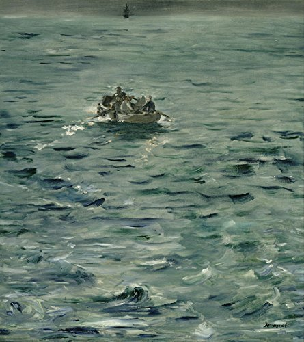 edouard-manet-rocheforts-escape-small-archival-matte-brown-frame