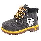 YanHoo Zapatos para niños Botas Individuales para niños más Botas Grue..