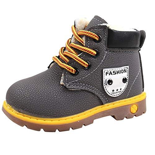 Beikoard_Babykleidung Plus Baumwolle gepolsterte Booties mit britischen Wind Stiefel Schneeschuhe Schuhe Sneaker Kinder Baby Freizeitschuhe (Junge, Twin-halloween-kostüme, Mädchen Kleinkind,)