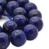 Edelstein PERLEN Natur Lapis Lazuli NATURSTEINE 6mm RUND BLAU Halbedelstein Edelsteine Schmuckperlen Schmuckstein für DIY Kette Basteln G389