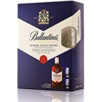Ballantines Finest Blended Scotch Whisky with 2 Glasses, 70 cl