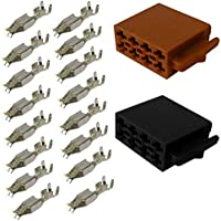 AERZETIX: 2x Conectores enchufe ISO 16PIN universal para autoradio altavoces de coche, vehiculos C11038