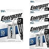 Energizer L522-9V-FR22-E - 4 batterie al Litio, 9 V