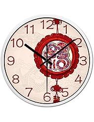 14 pulgadas de estilo chino chino reloj reloj de pared creativa moderna minimalista dormitorio sala de estar mudo reloj redondo reloj de bolsillo de cuarzo