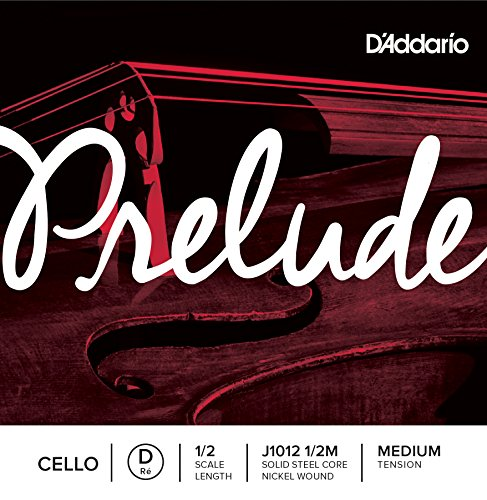 D'Addario J1012-1/2M Prelude Cello Einzelsaite 'D' Nickel umsponnen 1/2 Medium