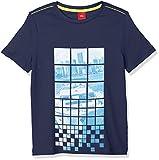 s.Oliver Jungen T-Shirt 63.804.32.5133, Blau (Dark Blue 5816), 104 (Herstellergröße: 104/110)