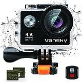 Sport-Action-Kamera, Vansky Action Kamera Wifi Sports Cam 4K Camera 12MP Ultra Full HD...