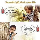 ABASK Walkie Talkie für Kinder, Funkhandy Kinder Funkgerät, Reichweite bis zu 5 Km Outdoor-Reisen und 8 Kanle mit LC-Display (1 Paar) Rot Test