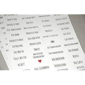 Sticker zum Fotoalbum gestalten - Hochzeit