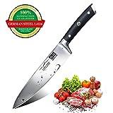 SHAN ZU 20CM Couteau de Cuisine Couteau de Chef Professionnel en Acier Inoxydable Couteau de Chef avec Manche en Bois