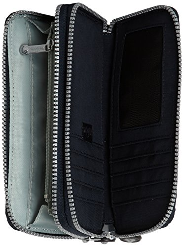 Kipling Uzario - Portafogli Donna, Grau (Warm Grey), One Size Blu (True Blue)