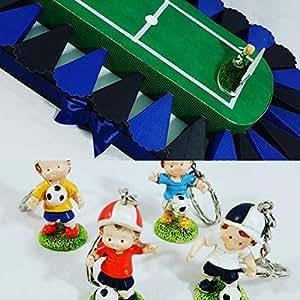 Torte Bomboniere Stadio calciatori Calcio cresima e Comunione Compleanno (Portachiavi 4 Colori, Inter)