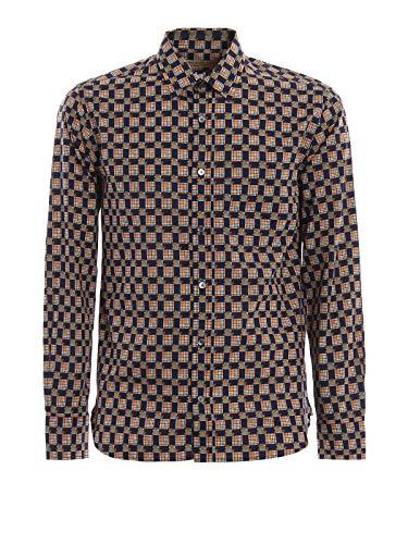 Burberry camicia uomo 8001129 cotone blu