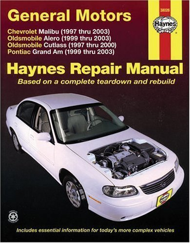 General Motors: Chevrolet Malibu (1997 thru 2003) Oldsmobile Alero (1999 thru 2003) Oldsmobile Cutlass (1997-2000) Pontiac Grand Am (1999 thru 2003) (Haynes Repair Manual) by Storer, Jay (2005) Paperback - Am 2000 Pontiac Motor Grand