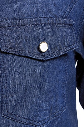 SS7 Nouvelles Femmes Chemise En Jeans, Taille 8 - 14, Jeans Bleu Clair, Indigo Indigo