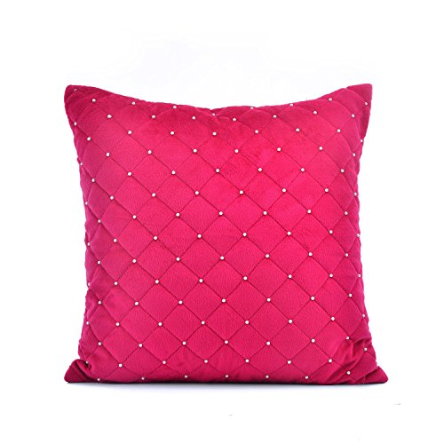 @home by Nilkamal Pink Polyester Harmony Cushion Covers