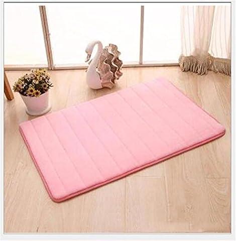 FFJTS Pink Velluto Corallo Memory tapis antidérapant Doux moelleux Cozy moderne Top qualité Simple chambre à coucher Salon porte tapis , 160*230cm