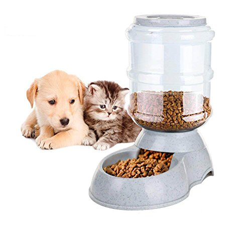 Aspet Self-Dispensing Gravity Pet Feeder and Waterer, Dog Feeding Bowl for Dogs Cats Puppy Kitten and Small Pets Automatic Gravity Feeder and Food Dispenser