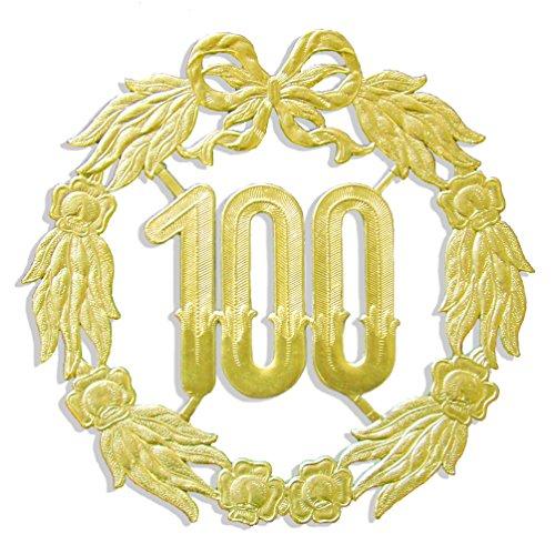kunze a013070001aniversario número 100, diámetro 27cm, Oro