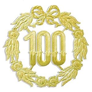 kunze a013060001aniversario número 100, diámetro 18cm, Oro