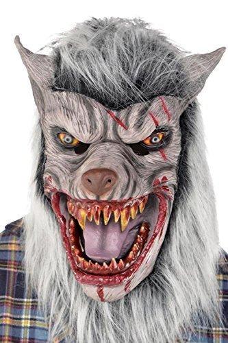 nstpelz Sinister Werwolf Vollmaske Halloween Kostüm Zubehör (Werwolf Erwachsene Kostüme)