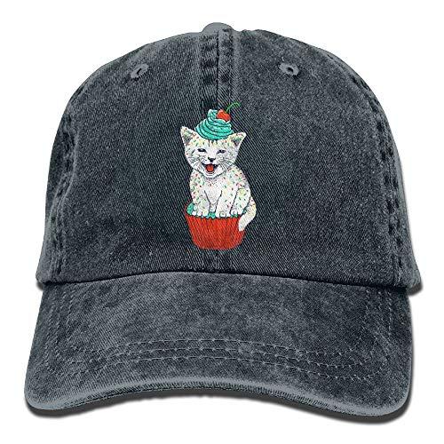 Unisex Baseballmütze Ballmütze Cat Cup Cake ()